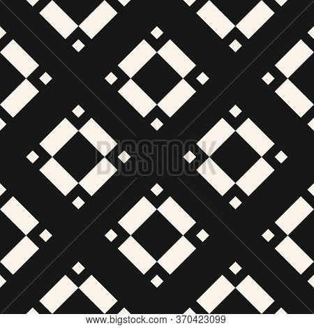 Vector Geometric Seamless Pattern With Rhombuses, Diamonds, Squares, Floral Shapes, Tiles. Abstract