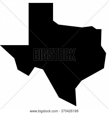 Texas Map Icon On White Background. Texas State Sign. Map Of The U.s. State Of Texas.