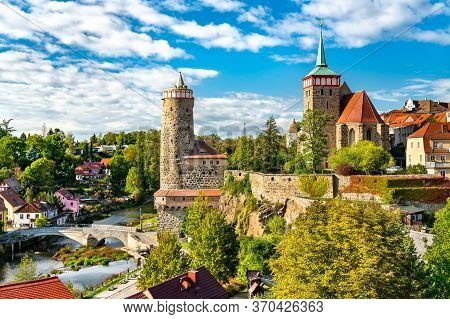 Alte Wasserkunst Tower And Michaeliskirche Church In Bautzen - Saxony, Germany