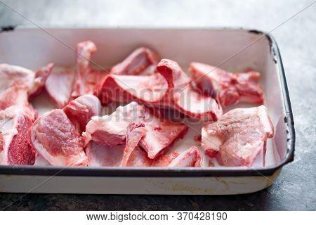 Close Up Rustic Pork Bones Flavoring Ingredient