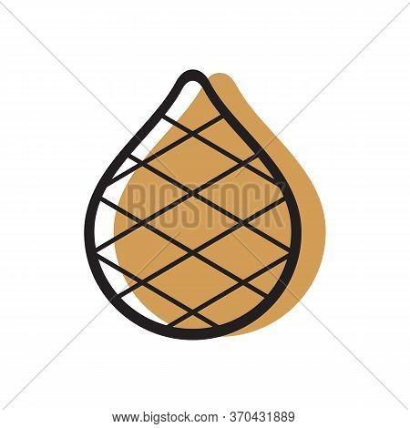 Salak Or Snake Fruit Clip Art,  Zalacca Vector Icon Design, Tropical Fruti Illustration
