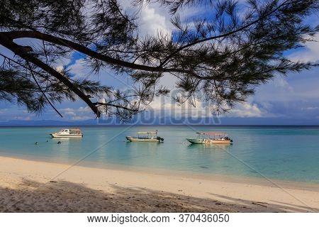 Mantanani Island, Sabah, Malaysia-circa September, 2017: Beautiful Scenery Landscape View Of Mantana