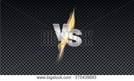 Logo Vs Of Competitions. Versus Fire Battle. Mma Concept Fight Night, Mma, Boxing, Wrestling, Thai B