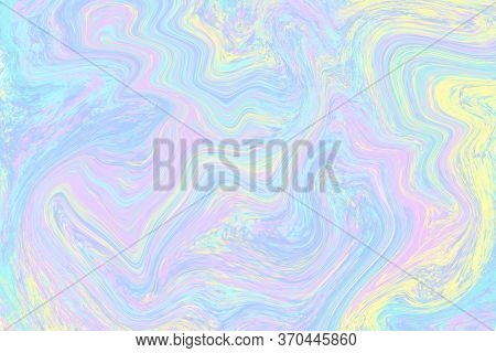 Pale Liquid Color Illustration. Pastel Multicolored Digital Texture. Smudged Paint Cover Template. E