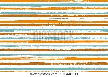Watercolor Handdrawn Straight Lines Vector Seamless Pattern. Messy Bedding Textile Print Design. Gra