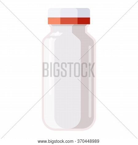 Pharmacy Of Plastic White Bottle With Screw Cap For Medicine, Pills, Tabs, Drugs, Cosmetic, Sport, S