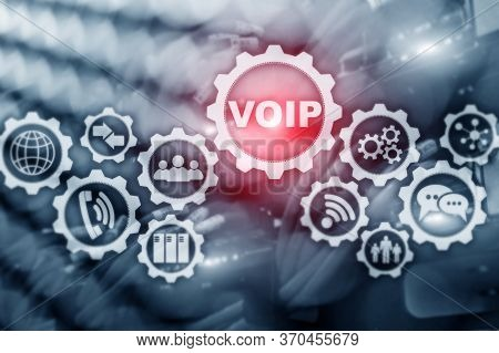 Voip Abstract Concept. Voice Over Internet Protocol 2021.