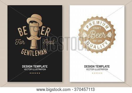 Craft Beer Poster, Flyer, Template, Card. Vector Illustration. Vintage Design For Bar, Pub And Resta