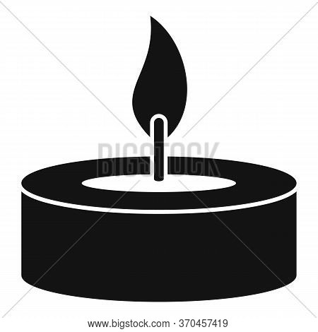 Burning Candle Icon. Simple Illustration Of Burning Candle Vector Icon For Web Design Isolated On Wh