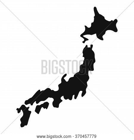 Japan Territory Map Icon. Simple Illustration Of Japan Territory Map Vector Icon For Web Design Isol