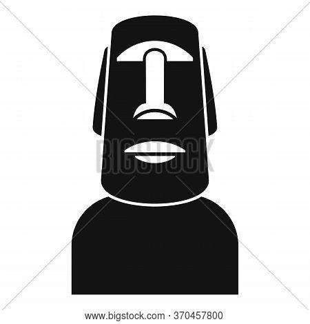 Easter Island Statue Icon. Simple Illustration Of Easter Island Statue Vector Icon For Web Design Is