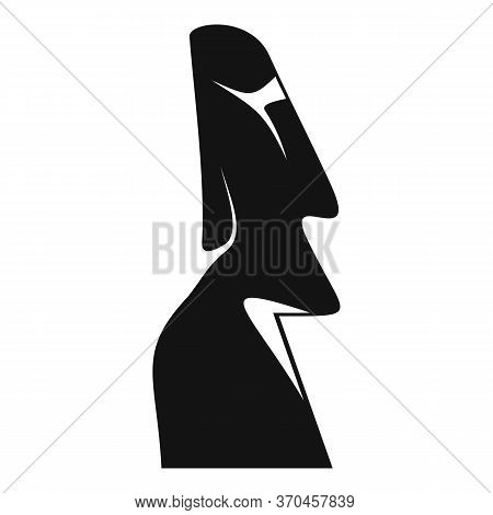 Famous Easter Island Statue Icon. Simple Illustration Of Famous Easter Island Statue Vector Icon For