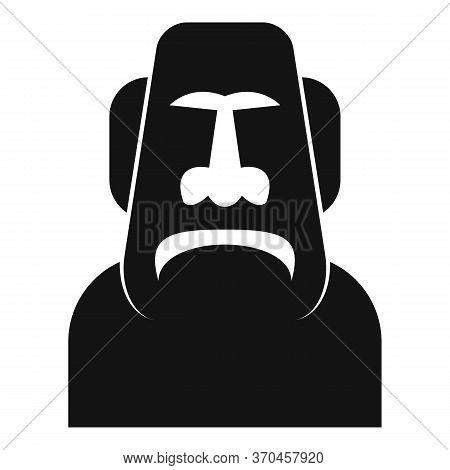 Spirituality Moai Head Icon. Simple Illustration Of Spirituality Moai Head Vector Icon For Web Desig