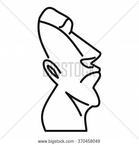 Historical Moai Statue Icon. Outline Historical Moai Statue Vector Icon For Web Design Isolated On W