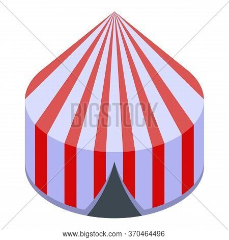 Circus Tent Icon. Isometric Of Circus Tent Vector Icon For Web Design Isolated On White Background