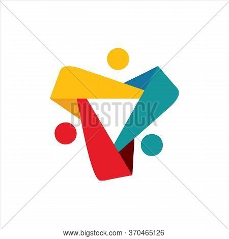Save Download Preview Vector Icon Of People Together - Sign Of Unity Partnership. This Also Represen