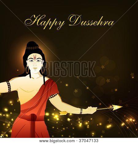 Dussehra festival background with Hindu God Shri Rama. EPS 10.