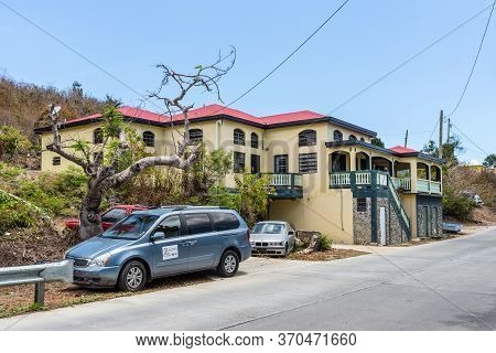 Smith Bay, St. Thomas, U.s. V. Islands (usvi) - April 30, 2019: Typical Residential Building In Smit