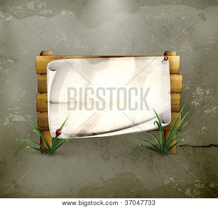 Notice board, old-style vector