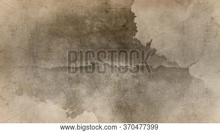 Old White Dirty Plaster Wall With Cracked Structure Horizontal Empty Grunge Background. Gray Brick M