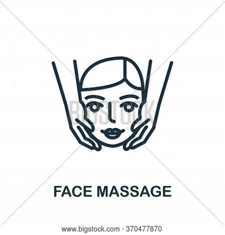 Face Massage Icon. Simple Element From Cosmetology Collection. Creative Face Massage Icon For Web De