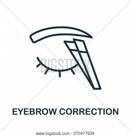 Eyebrow Correction Icon. Simple Element From Cosmetology Collection. Creative Eyebrow Correction Ico