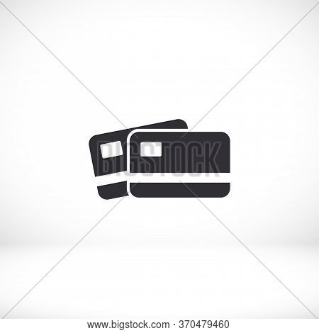Credit Card Icon. Vector Eps 10. Credit Card Flat Design. Credit Card In A Flat Style