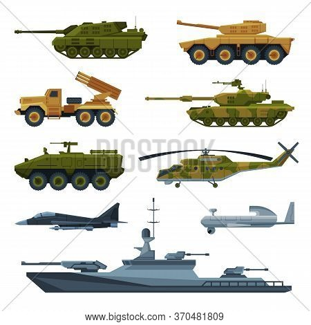Armored Army Vehicles Collection, Military Heavy Special Transport, Tank, Aircraft Fighter, Rocket L