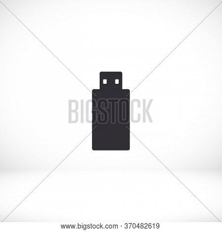 Usb Drive Icon. Vector Usb Eps 10. Information Storage Device Design Flat. Usb Icon. Flat Style