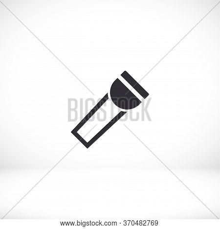 Flashlight Icon. Vector Eps 10 Lorem Ipsum Design Flat Illustration Best Flashlight