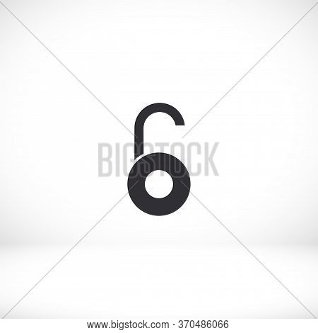 Lock Open Icon In Trendy Flat Style Isolated On Background. Lock Open Symbol For Your Web Design, Ca