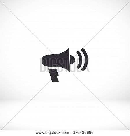 Loudspeaker Icon. Vector Shout. Eps 10 Volume. Flat Design. The Work Is Done For Your Use For Your P