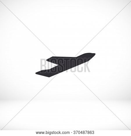Plane Icon. Vector Plane Flat Design. Plane Flying. The Plane Takes Off. The Work Is Done For Your U