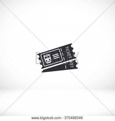 Ticket Icon In Trendy Flat Style Isolated On Background. Ticket Symbol For Your Website Design, Logo