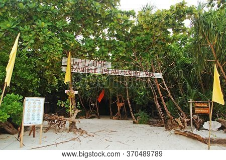 Camiguin, Ph - Feb 4 - Mantigue Island Nature Park Entrance On February 4, 2013 In Camiguin, Philipp