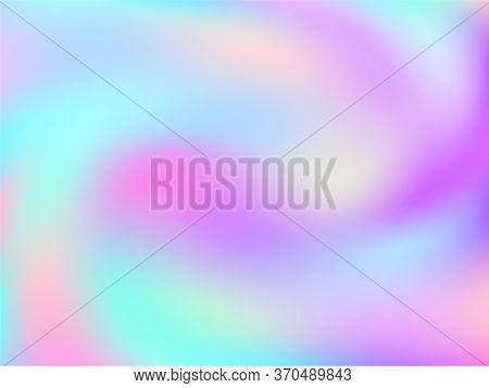 Blurred Hologram Texture Gradient Wallpaper. Colorful Iridescent Mermaid Background. Hologram Colors