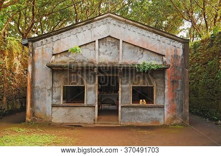Camiguin, Ph - February 3 - Old Spanish Church Ruins Chapel Facade On February 3, 2013 In Camiguin,
