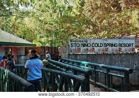 Camiguin, Ph - February 3 - Santo Nino Cold Spring Resort Sign On February 3, 2013 In Camiguin, Phil