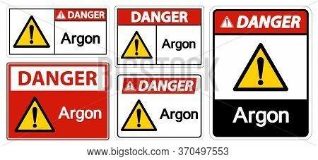 Danger Argon Symbol Sign Isolate On White Background,vector Illustration Eps.10