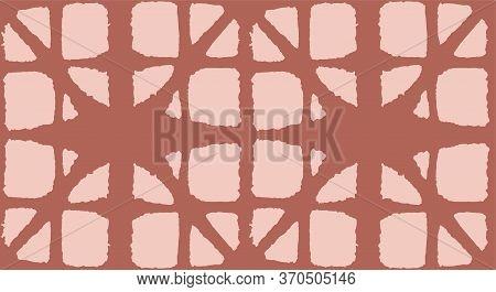 Japanese Tie Dye Seamless Pattern. Geometric Bohemian Asian Tie Dye Design. Soft Arc Shell Pattern P