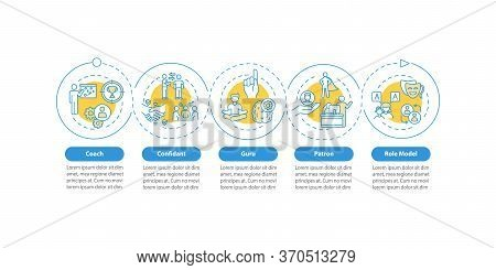 Role Model Types Vector Infographic Template. Coach For Personal Mentoring Presentation Design Eleme