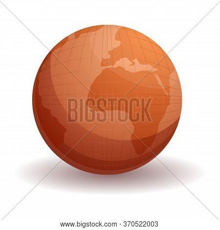 Cartographer Globe Icon. Cartoon Of Cartographer Globe Vector Icon For Web Design Isolated On White