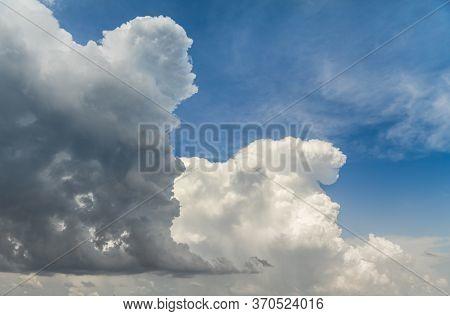 Cumulonimbus Cloud In The Blue Sky