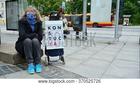 Warsaw, Poland. 9 June 2020. Protest Of Supporters Of Judge Igor Tuleya At The Entrance To The Supre