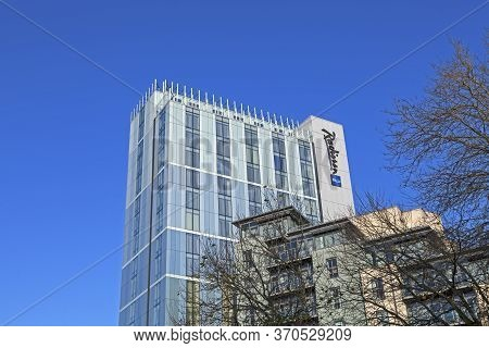 Bristol, Uk - December 3, 2014: The Radisson Blu Hotel. The Building Was Formerly The Headquarters O