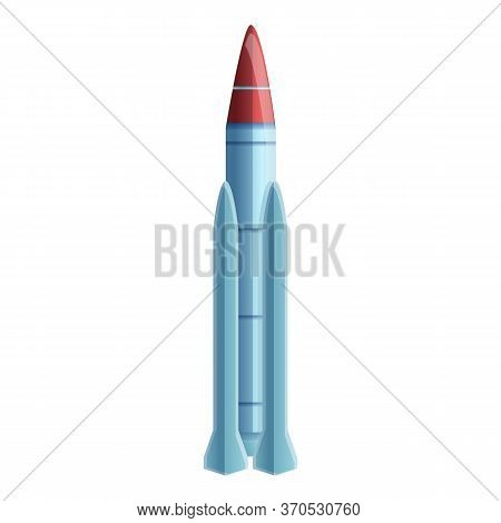 Conflict Missile Icon. Cartoon Of Conflict Missile Vector Icon For Web Design Isolated On White Back