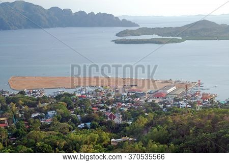Palawan, Ph - March 6 - Overview Of Coron Province With Mountain And Sea During Daytime On March 6,