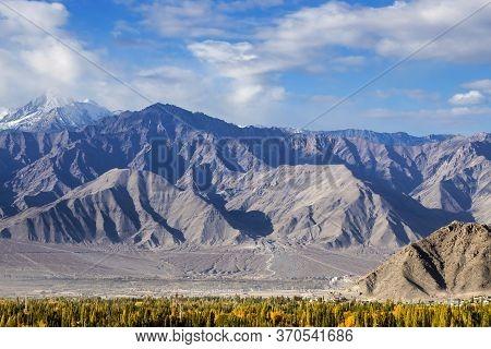 Leh Ladakh, Beautiful Landscape, Autumn Colourful With Mountains Background, Leh, Ladakh, India