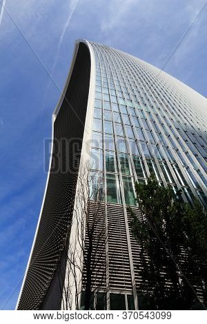 London, Uk - July 6, 2016: 20 Fenchurch Street Skyscraper In London, Uk. The Postmodern Style Office