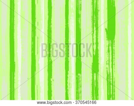 Watercolor Strips Seamless Vector Background. Grungy Ink Doodles Simple Endless Texture. Striped Tab